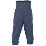 Pantalon long à large ceinture laine